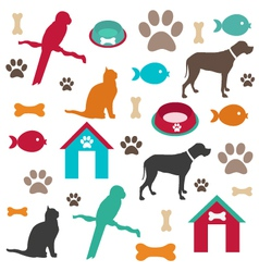 Pet background vector