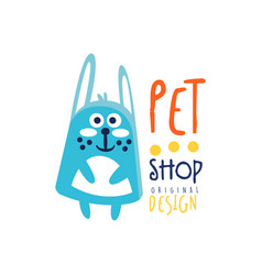 pet shop colorful logo template original design vector image vector image