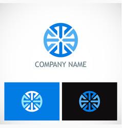 round geometry circle company logo vector image