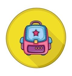 School backpack flat icon vector