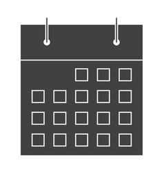 stylish calendar silhouette vector image
