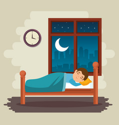 Sweet dreams sleeping time icon vector