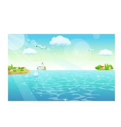 Town Shore Scene vector image vector image