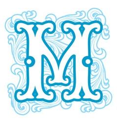 Winter vintage letter m vector
