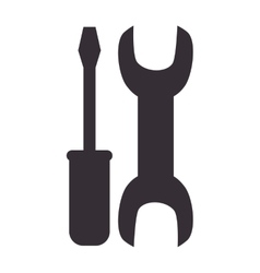 wrench and screwdriver repair symbol vector image