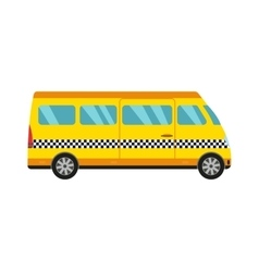 Yellow taxi bus vector image