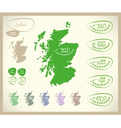 Bio map uk scotland vector