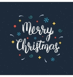 Merry christmas handwritten lettering inscription vector