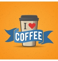 Coffe to go badge label vector image