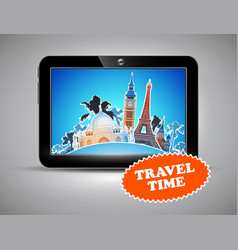 Travel advertising design vector