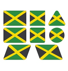 Buttons with flag of jamaica vector