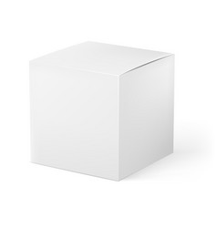 White box on white background for creative design vector