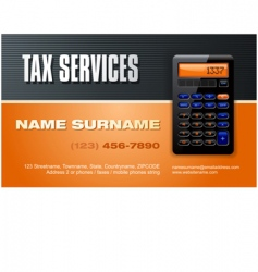 Tax services vector