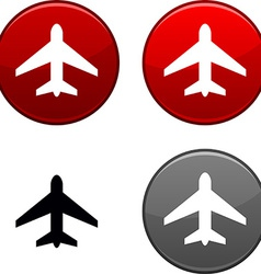 Aircraft button vector