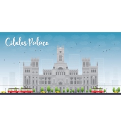 Cibeles palace madrid spain vector