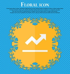 Graph chart diagram floral flat design on a blue vector
