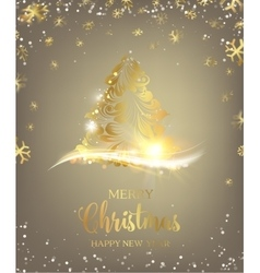 Christmas tree with sparks vector