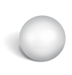 Big white sphere vector