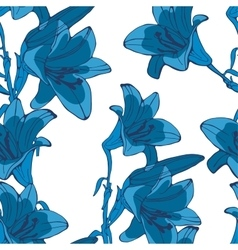 Elegant seamless lilly flowers pattern vector