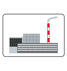 Building of a factory in the frame vector