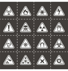Danger icon set vector