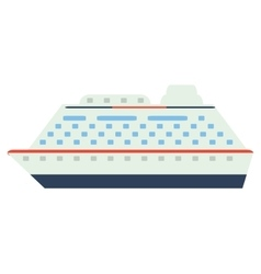 Colorful cruiseship icon vector