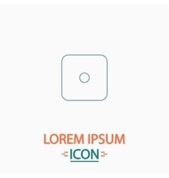 Dice 1 computer symbol vector