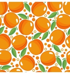 Seamless pattern with apricots vector