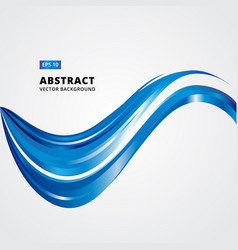 abstract curved lines blue waves vector image