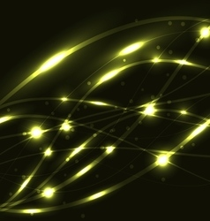 Abstract yellow light glowing background vector