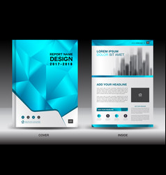Annual report brochure flyer template layout vector