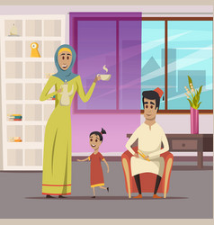 Arabic family background vector