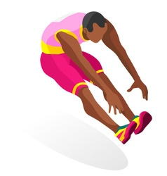 Athletics jump 2016 sports 3d vector