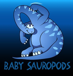 Baby Sauropods cute character dinosaurs vector image vector image