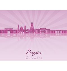 Bogota skyline in purple radiant orchid vector