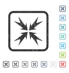 Compression arrows icon rubber watermark vector