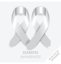Diabetes heart ribbon vector