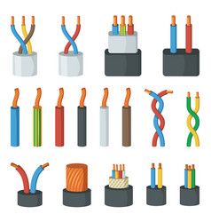electrical cable wires different amperage and vector image vector image