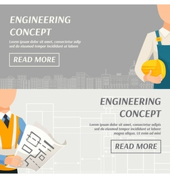 Engineering concept horizontal banners vector