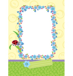 Floral child frame vector