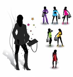 girls collection vector image vector image