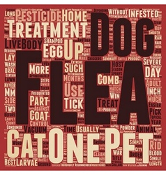How to win the war against your dogs fleas text vector