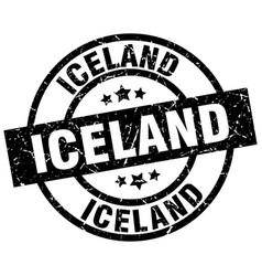 Iceland black round grunge stamp vector