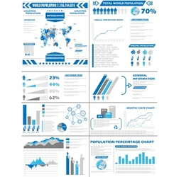 Infographic demographics population vector