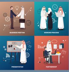Islamic partnership design concept vector