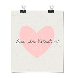 Italian st valentines day poster vintage design vector