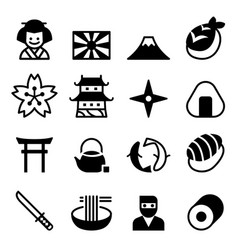 Japan icons symbol vector