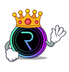 King request network coin mascot cartoon vector