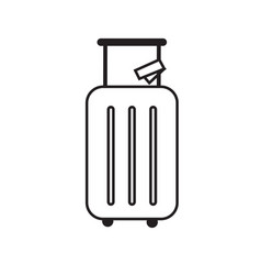 Luggage icons in a simple style vector