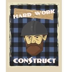 Poster builder face vector
